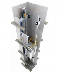 江苏下置机房电梯
